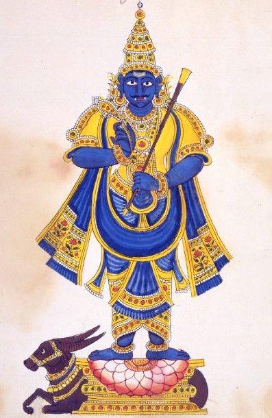 Lord Yama with Danda